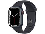 Apple Watch Series 7(GPS+Cellularモデル)- 41mmミッドナイトアルミニウムケースとミッドナイトスポーツバンド - レギュラー   MKHQ3J/A ※発売日以降お届け