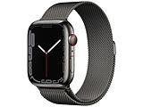 Apple Watch Series 7(GPS+Cellularモデル)- 45mmグラファイトステンレススチールケースとグラファイトミラネーゼループ   MKL33J/A ※発売日以降お届け