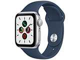 Apple(アップル) Apple Watch SE(GPSモデル)40mmシルバーアルミニウムケースとアビスブルースポーツバンド   MKNY3J/A 【磁気充電-USB-Cケーブル同梱モデル】