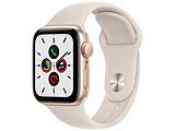 Apple(アップル) Apple Watch SE(GPSモデル)40mmゴールドアルミニウムケースとスターライトスポーツバンド   MKQ03J/A 【磁気充電-USB-Cケーブル同梱モデル】