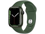 Apple Watch Series 7(GPSモデル)- 41mmグリーンアルミニウムケースとクローバースポーツバンド - レギュラー   MKN03J/A ※発売日以降お届け