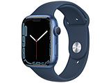 Apple(アップル) Apple Watch Series 7(GPSモデル)- 45mmブルーアルミニウムケースとアビスブルースポーツバンド - レギュラー   MKN83J/A ※発売日以降お届け