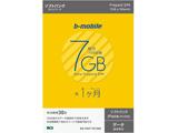 マイクロSIM【ソフトバンクiPad専用】 b-mobile S 「7GB×1ヶ月SIMパッケージ」データ通信専用 BS-IPAP-7G1MM [SMS非対応 /マイクロSIM]