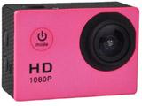 【在庫限り】 マイクロSD対応 防水ハウジングケース付きアクションカメラ(ピンク) AC150PK