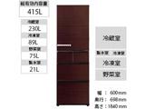 【基本設置料金セット】 AQR-SV42H-T 冷蔵庫 SVシリーズ グロスブラウン [5ドア /右開きタイプ /415L]