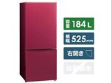 【基本設置料金セット】 AQR-BK18H-R 冷蔵庫 レッド [2ドア /右開きタイプ /184L]