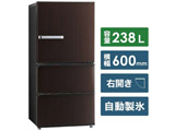【12/13発売予定】【基本設置料金セット】 冷蔵庫 AQR-SV24J-T ダークウッドブラウン [3ドア /右開きタイプ /238L]