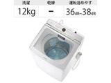インバーター全自動洗濯機12kg  ホワイト AQW-GVX120J-W