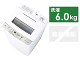 全自動洗濯機 Sシリーズ ホワイト AQW-S60J-W [洗濯6.0kg /乾燥機能無 /上開き]