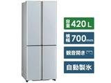 冷蔵庫 TZシリーズ サテンシルバー AQR-TZ42K-S [4ドア /観音開きタイプ /420L]