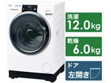 ドラム式洗濯乾燥機  ホワイト AQW-DX12M-W [洗濯12.0kg /乾燥6.0kg /ヒートポンプ乾燥 /左開き]