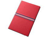 Xperia Z2 Tablet用 合皮レザージャケット フラップタイプ・トリコロール (レッド/レッド・ネイビーライン) RT-SO05FLC4/R
