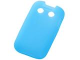 キッズケータイ HW-01G用 シルキータッチ・シリコンジャケット ブルー 半透明 RT-HW01GC1/A