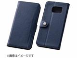 Galaxy S6 edge用 ブックレザーケース 合皮 ネイビー RT-SC04GLBC1/N