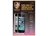 iPhone SE / 5c / 5s / 5用 クリスタルアーマー PAPER THIN ゴリラガラス製ラウンドエッジ強化ガラス 液晶保護 G-IPSE-PPT001