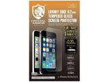iPhone SE / 5c / 5s / 5用 クリスタルアーマー ゴリラガラス製ラウンドエッジ強化ガラス 液晶保護 QUAD(4枚入) G-IPSE-CATR001-4