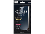 Xperia Z4用 GLASS PREMIUM FILM 背面デザイン カーボン柄 0.33mm LEPLUS LP-XPZ4FGLD01