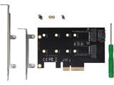 インターフェースカード NVMe / SATA M.2 SSDスロット[PCI-Express]   AIF-09
