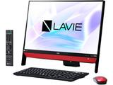 デスクトップPC LAVIE Desk All-in-one DA370/KA PC-DA370KAR ラズベリーレッド [Win10 Home・Celeron・Office付き・23.8インチ]