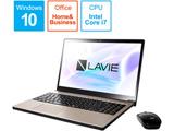【在庫限り】 ノートPC LAVIE Note NEXT PC-NX750LAG クレストゴールド [Core i7・15.6インチ・Office付き]