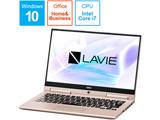 【在庫限り】 モバイルノートPC LAVIE Hybrid ZERO PC-HZ750LAG-2 フレアゴールド [Core i7・13.3インチ・Office付き]