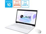 ノートPC LAVIE Note Standard PCNS300NAW2 カームホワイト [Core i3・15.6インチ・Office付き・SSD 256GB] 【ビックカメラオリジナルモデル】