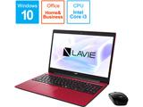 ノートPC LAVIE Note Standard PCNS300NAR2 カームレッド [Core i3・15.6インチ・Office付き・SSD 256GB] 【ビックカメラオリジナルモデル】