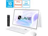 PC-HA370RAW デスクトップパソコン LAVIE Home All-in-one(HA370/RA シングルチューナ搭載) ファインホワイト [23.8型 /HDD:1TB /メモリ:8GB /2020年春モデル]