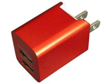 タブレット/スマートフォン対応[USB給電] AC - USB充電器 2.4A (2ポート) BAC2U24SRD レッド