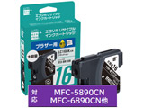 【リサイクル】 ECI-BR16B (ブラザー LC16BK対応/リサイクルインクカートリッジ/ブラック)