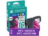 【リサイクル】 ECI-BR16M (ブラザー LC16M対応/リサイクルインクカートリッジ/マゼンタ)