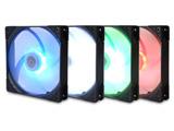 高精度密閉型FDBベアリング採用RGBファン「KAZE FLEX140」シリーズのスクウェア(SQUARE / 四角)形状モデル KF1425FD12SR-P