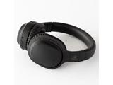 ブルートゥースヘッドホン  ブラック AG-WHP01KBK [マイク対応 /Bluetooth /ノイズキャンセリング対応]