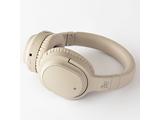 ブルートゥースヘッドホン  クリーム AG-WHP01KCR [マイク対応 /Bluetooth /ノイズキャンセリング対応]