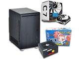 【在庫限り】 PC-Q21B/550G/C7 SET (Mini-ITXケース&550W電源&CPUクーラーセット)