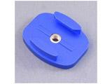 三脚用 アルミ・フラットマウント -Standard ブルー GB0109