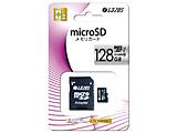 L-128MS10-U3 LAZOS microSDXCメモリーカード 128GB [UHS-I U3/CLASS10/SDアダプター付]