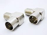 エスエスエーサービス F型L字接栓(プッシュ式) 2個入り F-LP2P
