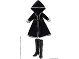 ピコニーモ用ウェア 1/12 BlackRaven Luluna フードコート&ブーツセット ブラック ドールウェア