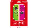 Switchジョイコン用 TPUプロテクト グリーン&ピンク [ANS-SW059GP]