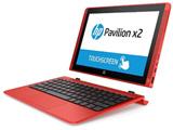 【在庫限り】 ノートPC Pavilion x2 10-n140TU T0Z06PA-AAAA サンセットレッド [Atom・10.1インチ・eMMC 64GB・メモリ 2GB]