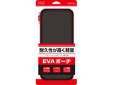 【ビックカメラグループオリジナル】 Switch用 カーボン調EVAポーチ Black×Red [BKS-NSEVRD]