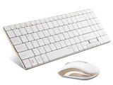 ワイヤレスキーボード[2.4GHz・USB・Win]&マウス 5.6mmウルトラスリム (108キー・ゴールド) rapoo 9160