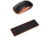 ワイヤレスキーボード[2.4GHz・USB]&マウス The Wireless Silent Mouse & Keyboard (ブラック・オレンジ) MK48367GBO
