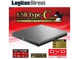 LDR-PVA8UCVGY  ポータブルDVDドライブ[USB Type-C・Win/Mac・グレー] 再生編集書込ソフト付 LDR-PVA8UCVシリーズ