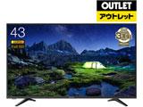 43型フルハイビジョン液晶テレビ デジタル3波 LEDバックライト搭載 外付HDD録画機能 43A50