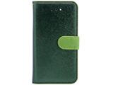 iPhone SE用 CALF Diary フォレストグリーン HAN7606I5SE