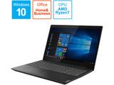 ノートPC ideapad L340 81LW002PJP グラナイトブラック [Ryzen 7・15.6インチ・Office付き・SSD 256GB・メモリ 8GB]