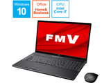 ノートパソコン LIFEBOOK NH90/E2 ブライトブラック FMVN90E2B [17.3型 /intel Core i7 /HDD:1TB /Optane:16GB /SSD:256GB /メモリ:8GB /2020年6月モデル]
