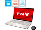 ノートパソコン LIFEBOOK NH77/E3 シャンパンゴールド FMVN77E3G [17.3型 /AMD Ryzen 7 /SSD:256GB /メモリ:8GB /2020年冬モデル]